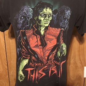 80s Michael Jackson Thriller This Is It Zombie Tee